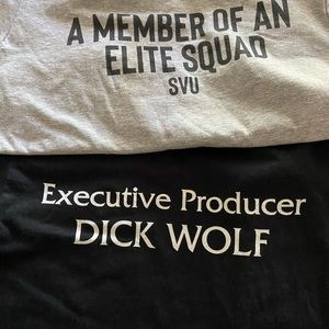 Bundle of 2 Law & Order SVU tshirts.